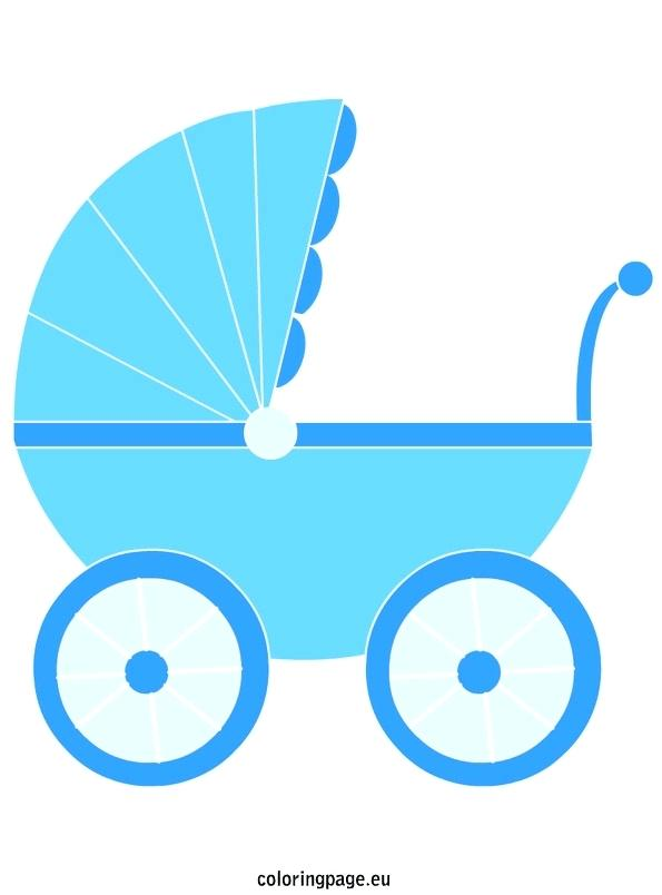 595x804 Baby Carriage Coloring Page Best Baby Stroller Coloring Page Baby