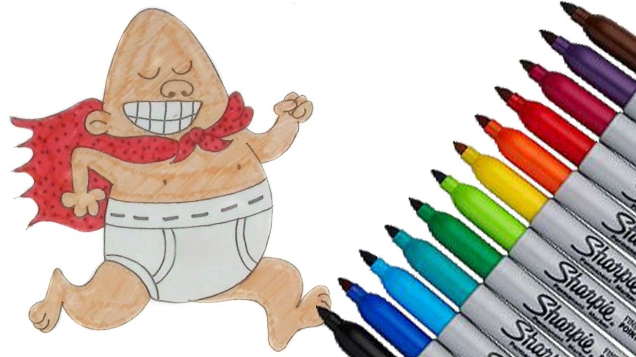 1280x720 Captain Underpants Coloring Page 2017 New Hd Video For Kids