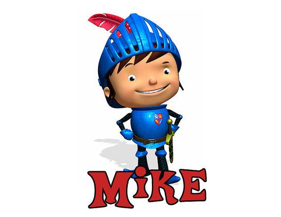 570x441 Kids Personalized Mike The Knight T Shirt Or One Polkabeaninc