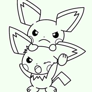300x300 Pichu Is Asking For Something Coloring Page Color Luna
