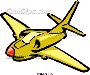 300x251 Cartoon Jet Airplane Vector Clip Art