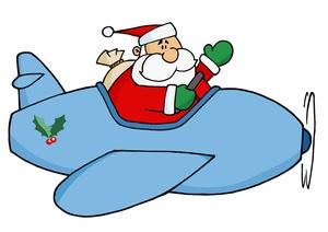 300x212 Free Santa Claus Clipart Image 0521 1009 1012 5601 Airplane Clipart