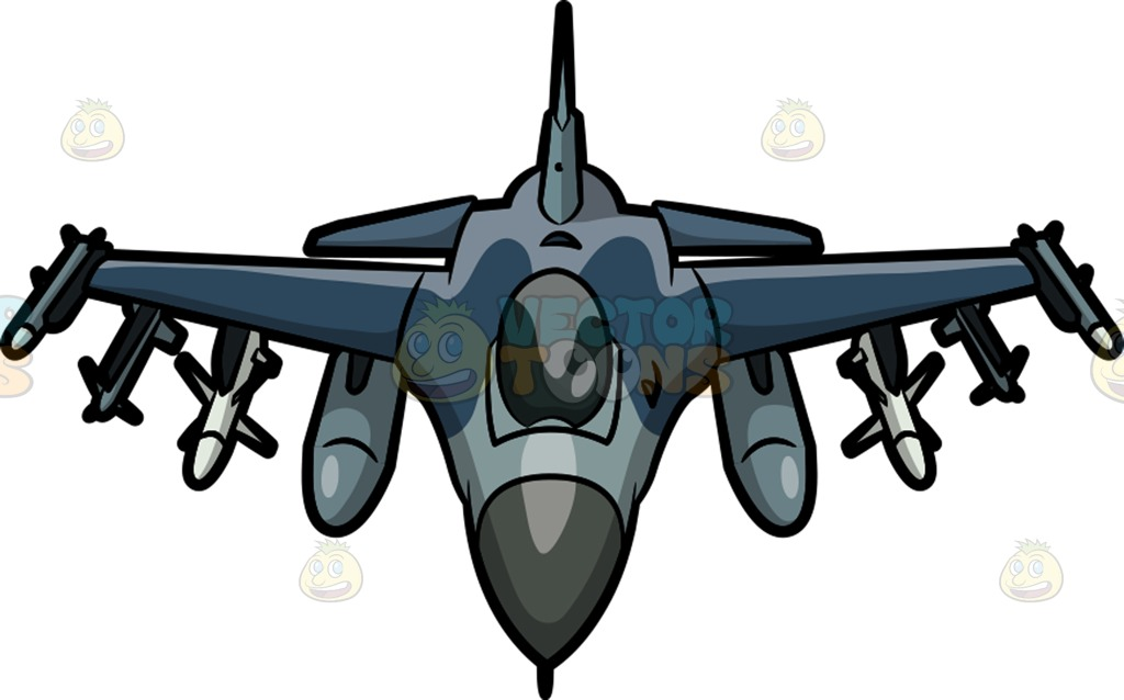 1024x638 An F16 Fighting Falcon Cartoon Clipart Vector Toons