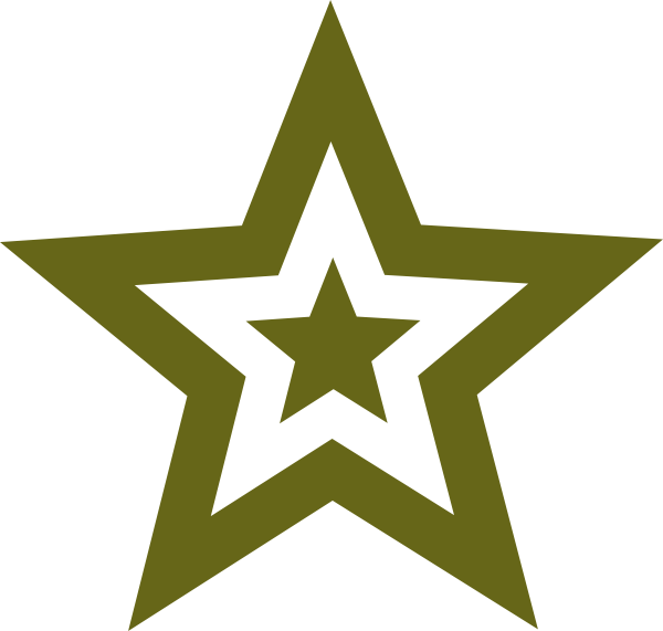 600x571 Star Military Green Clip Art