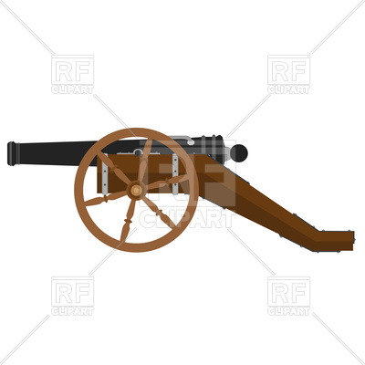 400x400 Military Cannon Illustration Flat Icon Royalty Free Vector Clip