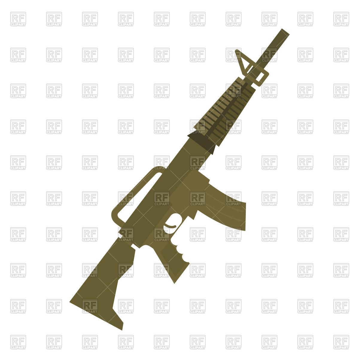 1200x1200 Rifle, Machine Gun On White Background, Military Weapon Royalty