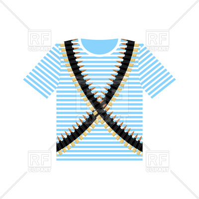 400x400 Sailor Shirt And Machine Gun Belts. Military Clothing. Army
