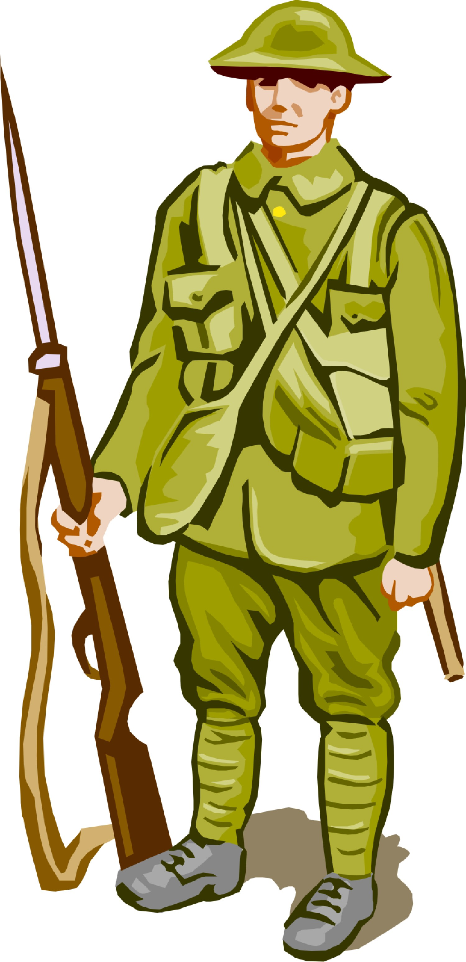 1500x3099 Army Clipart Ww1 Soldier