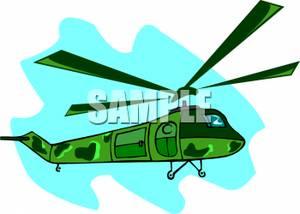 300x214 A Colorful Cartoon Of A Military Chopper Flying Through The Air