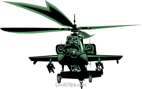480x303 Ah 64 Helicopter Royalty Free Vector Clip Art Illustration