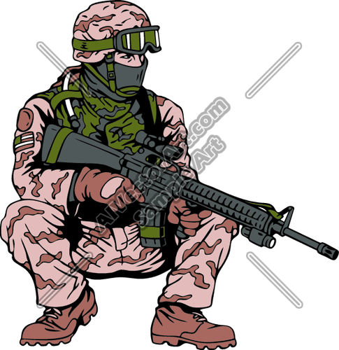 485x500 Funny Military Clipart