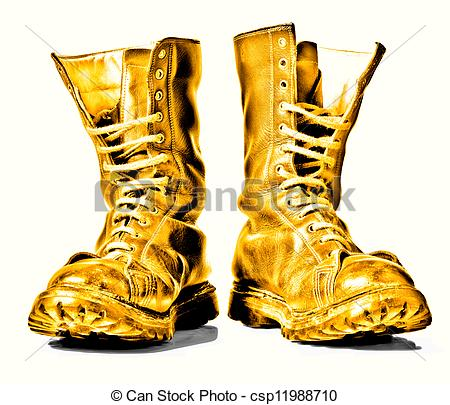 450x405 Military Boots Clipart