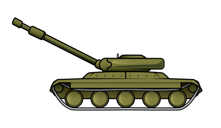 768x446 Army Tank Clip Art