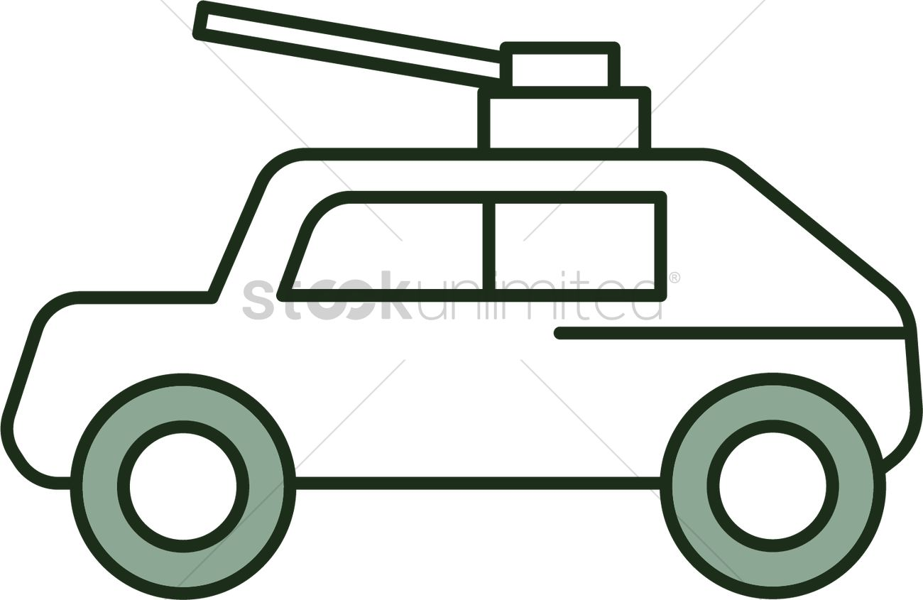 1300x845 Armored Vehicle Icon Vector Image