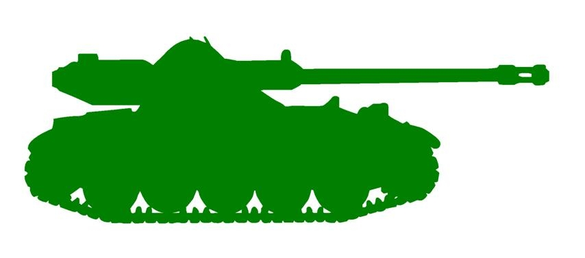 854x377 Army Tank Silhouette 3 Decal Sticker