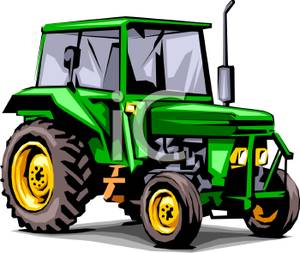300x253 Clipart Picture A Green Tractor