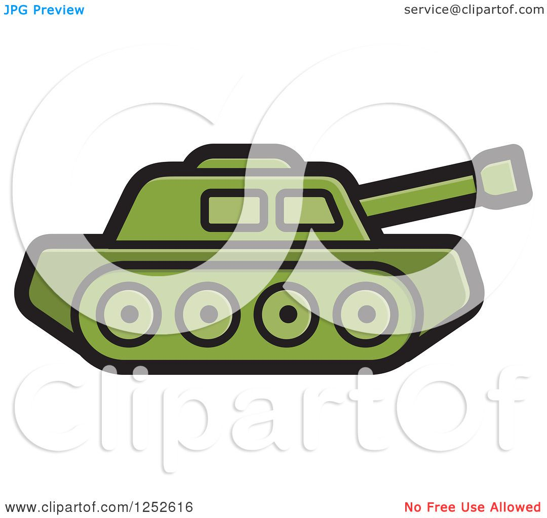 1080x1024 Clipart Of A Green Military Tank