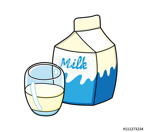 500x455 Glass Of Milk And A Milk Carton. Stock Image And Royalty Free