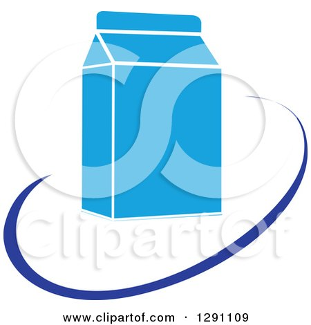 450x470 Clipart Of A Nutrition Logo Of A Milk Carton And A Blue Swoosh