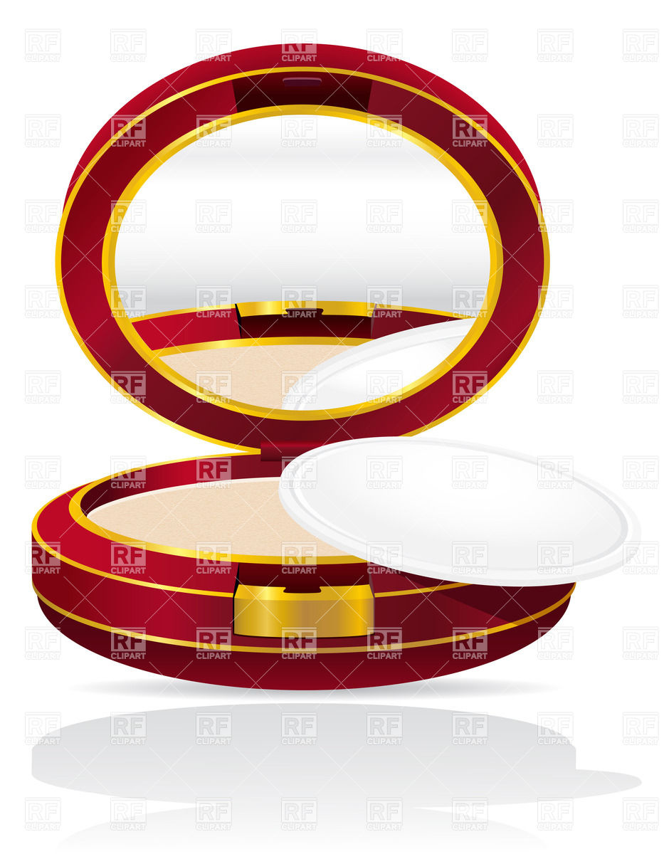933x1200 Round Powder Case With Mirror Royalty Free Vector Clip Art Image