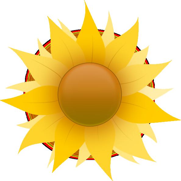 594x595 Small Flowers Images Cartoon Sunflower Clip Art
