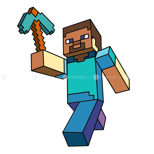 500x500 Collection Of Steve Minecraft Clipart High Quality, Free
