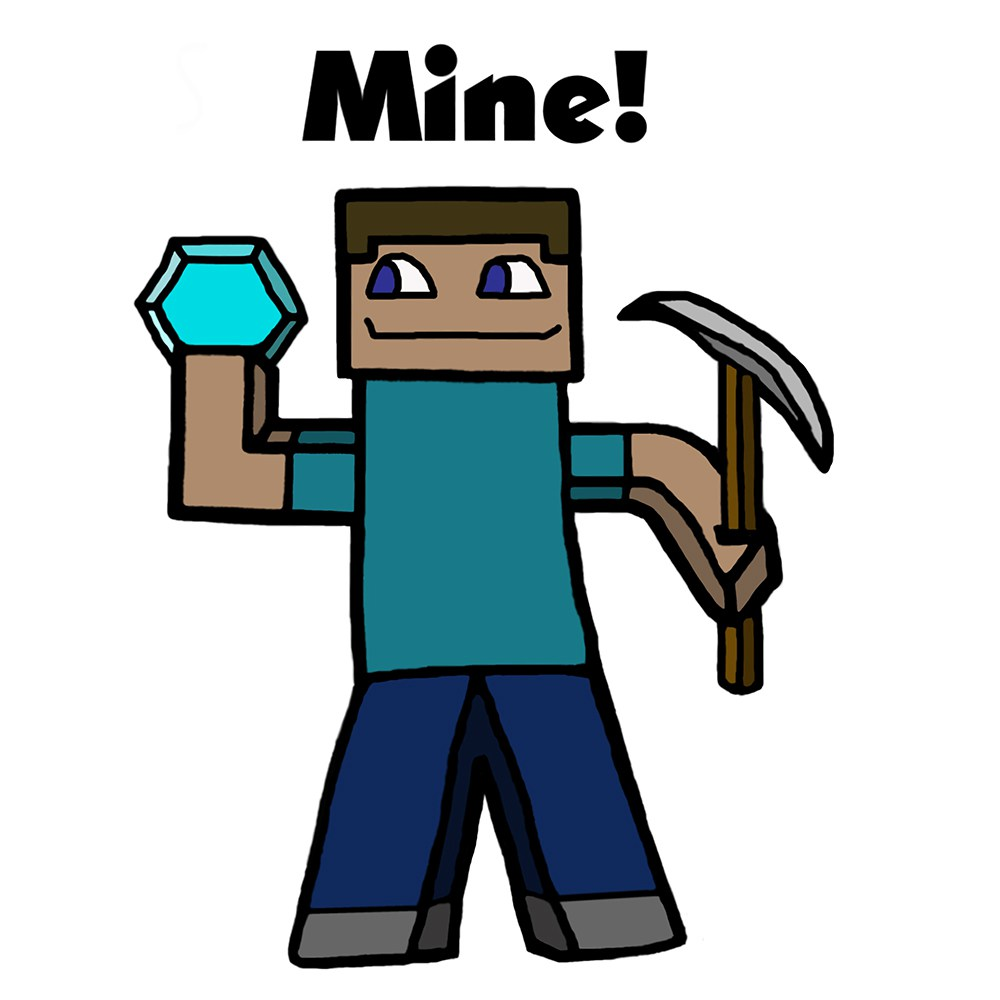 1000x1000 Minecraft Characters Clip Art