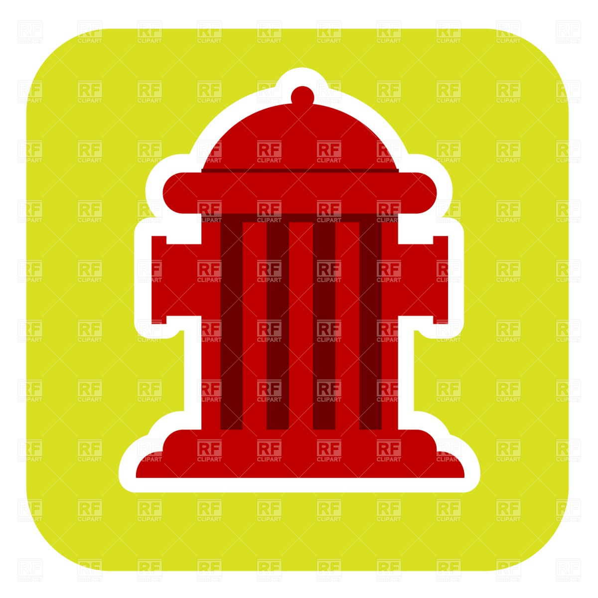 1200x1200 Fire Hydrant Royalty Free Vector Clip Art Image