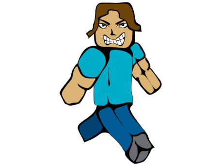 456x342 Free Mc Man Minecraft Steve Clipart And Vector Graphics
