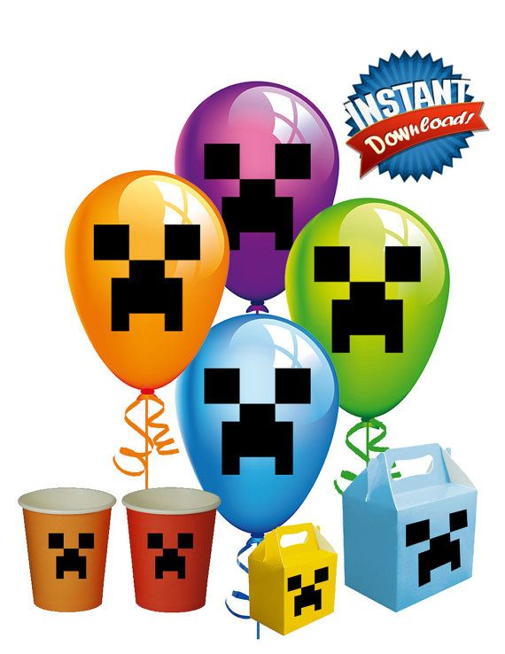 570x738 Minecraft Clipart Balloon Free Collection Download And Share