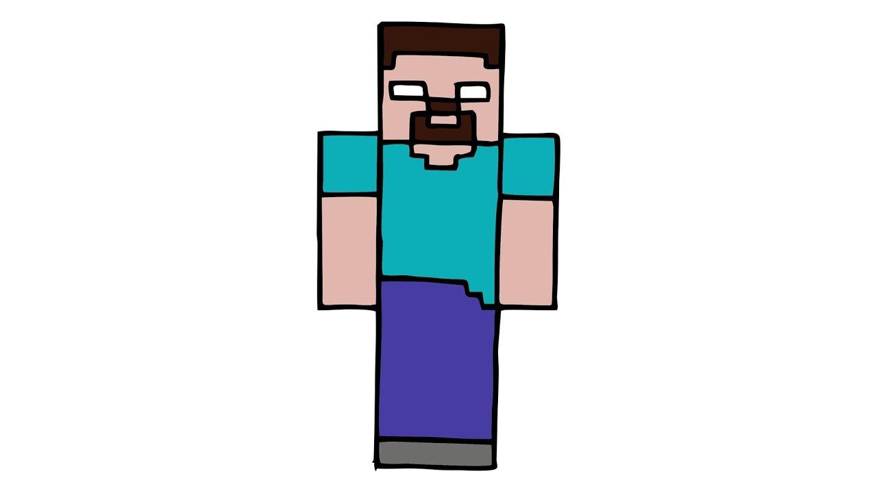 1280x720 How To Draw Herobrine From Minecraft (Skin)