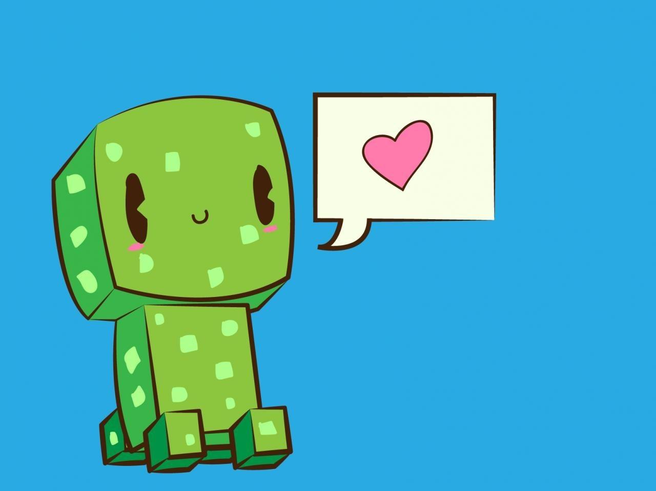 1280x959 Minecraft Cute Creeper Wallpaper