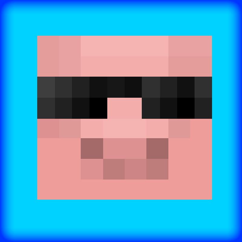 800x800 Minecraft Pig Head Clipart