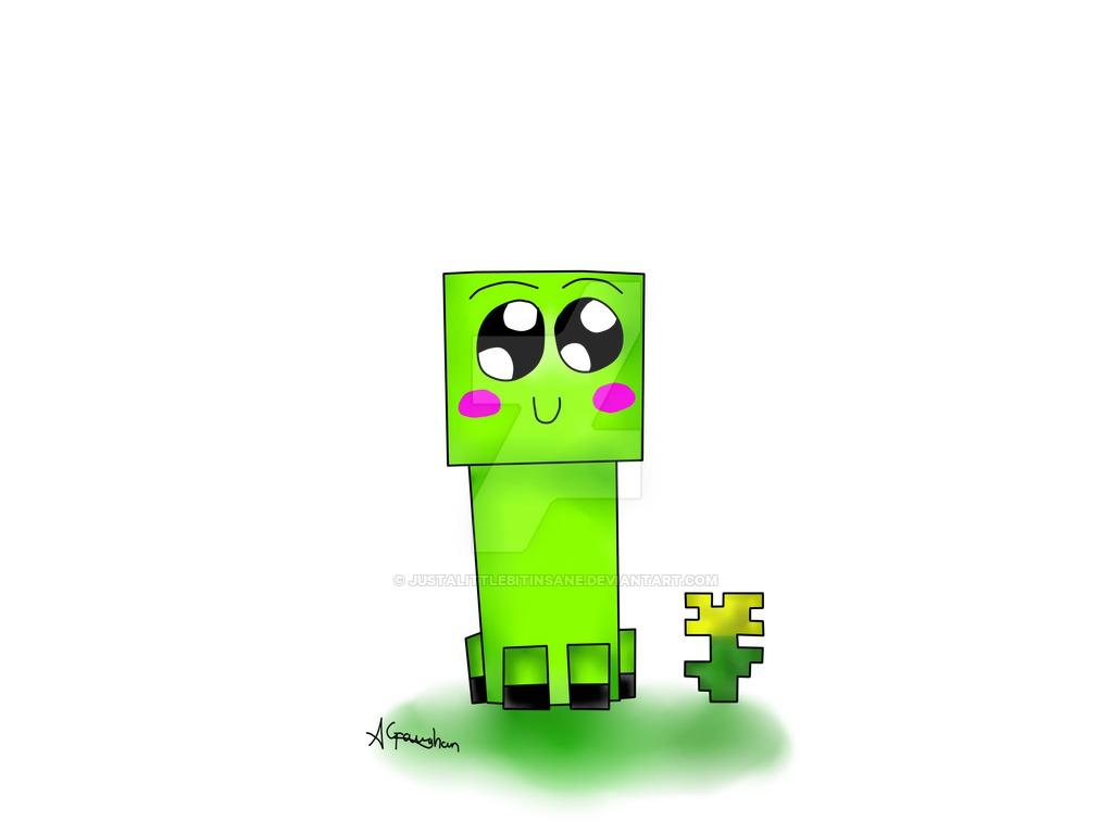 1024x768 Cute Creeper Cliparts