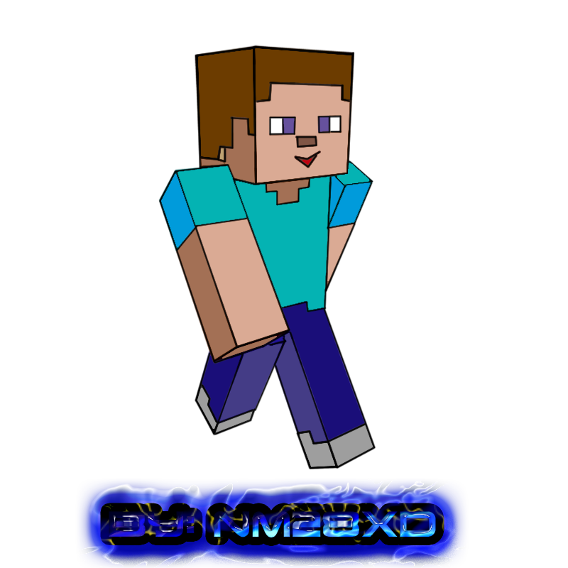 800x800 Minecraft Skin Steve Toon By Nm28xd By Ninjaman28xd