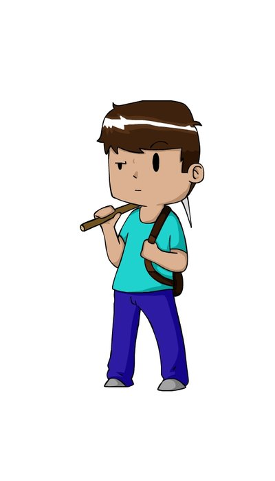 400x700 Minecraft Steve (Chibicartoon) By Zhamwich