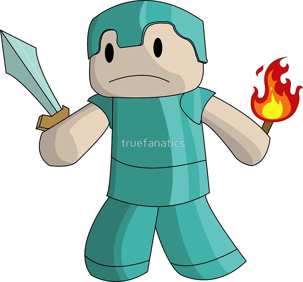 1000x930 Minecraft Steve Diamond Armor With Diamond Sword And Fire By