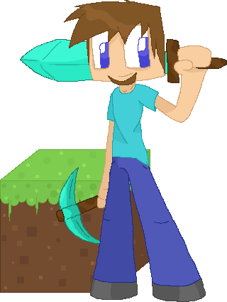 320x425 Minecraft Steve By Banditmax201
