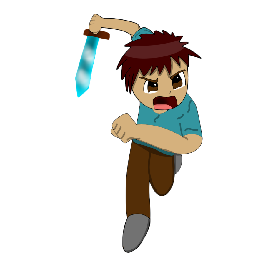 894x894 Chibi Minecraft Steve By Playfulanimator