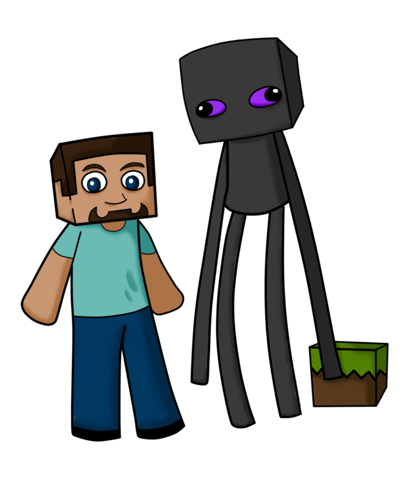806x991 Enderbro And Steve By Cubedcake