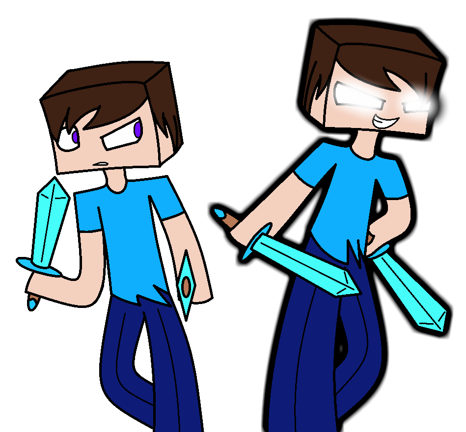 949x881 Minecraft Herobrine And Steve By Spectrumrarity