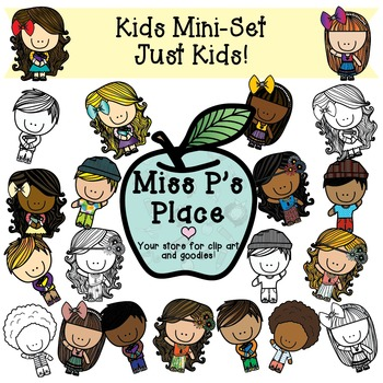 350x350 Kids Mini Clip Art Set Just Kids! [Miss P's Place] By Miss P's Place
