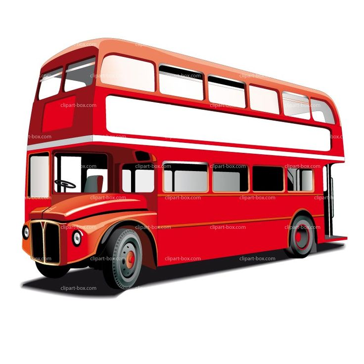 736x736 London Bus Clipart