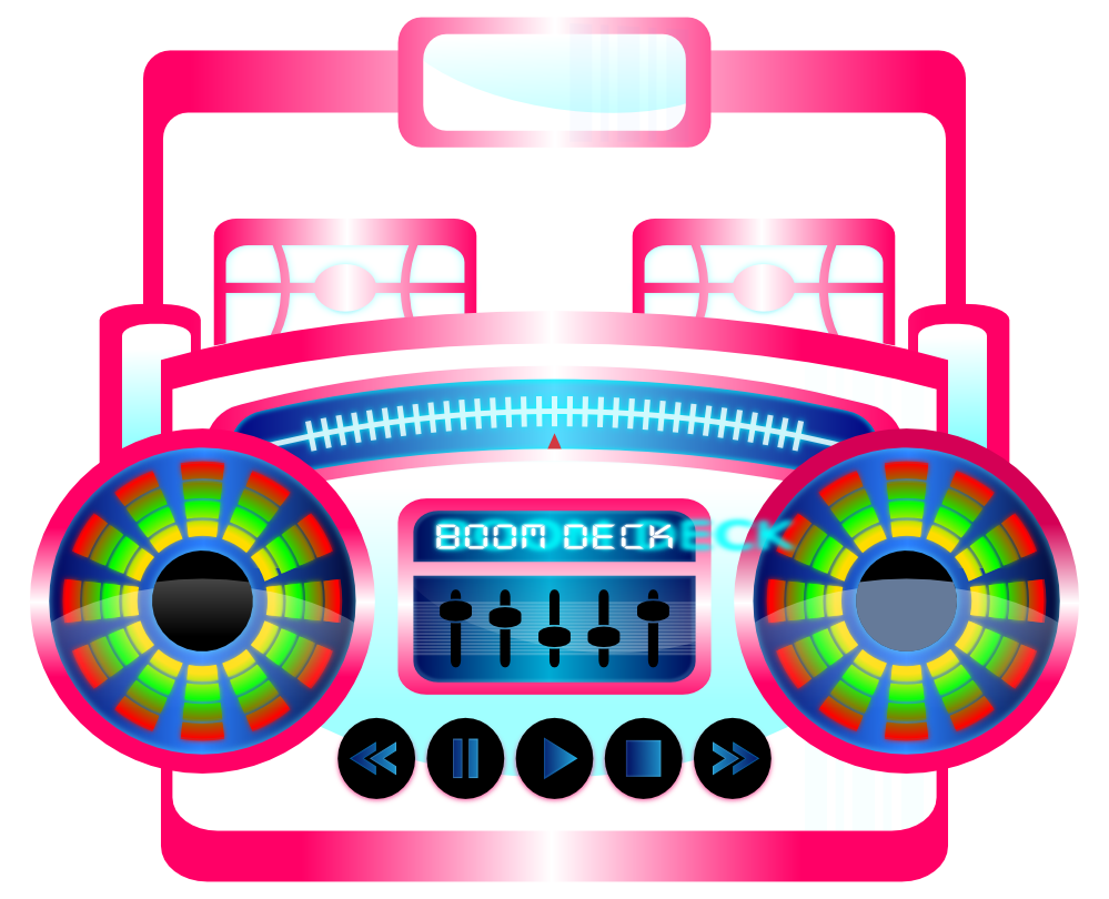 999x810 Clip Art Mini Boombox Fuschia Viscious Speed