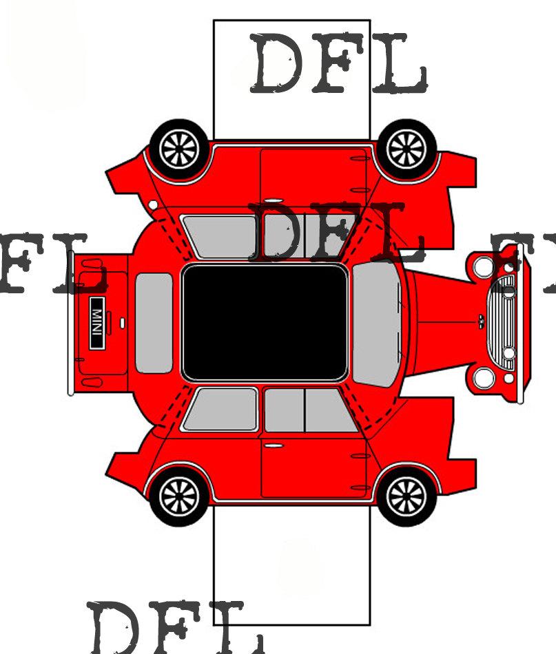 807x950 Paper Folding Origami Car. Mini Cooper From Wankywoodshop On Etsy