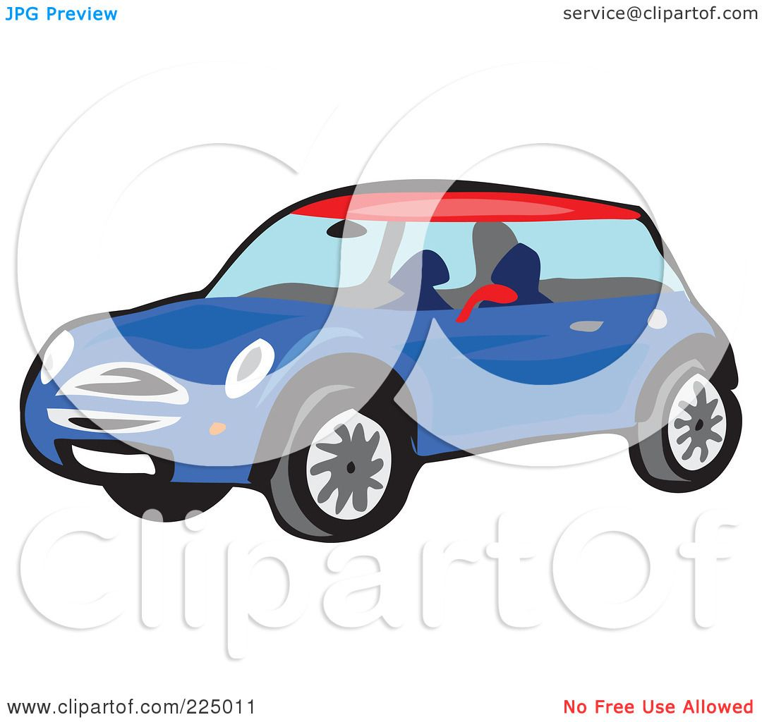 1080x1024 Royalty Free (Rf) Clipart Illustration Of A Blue Mini Car By