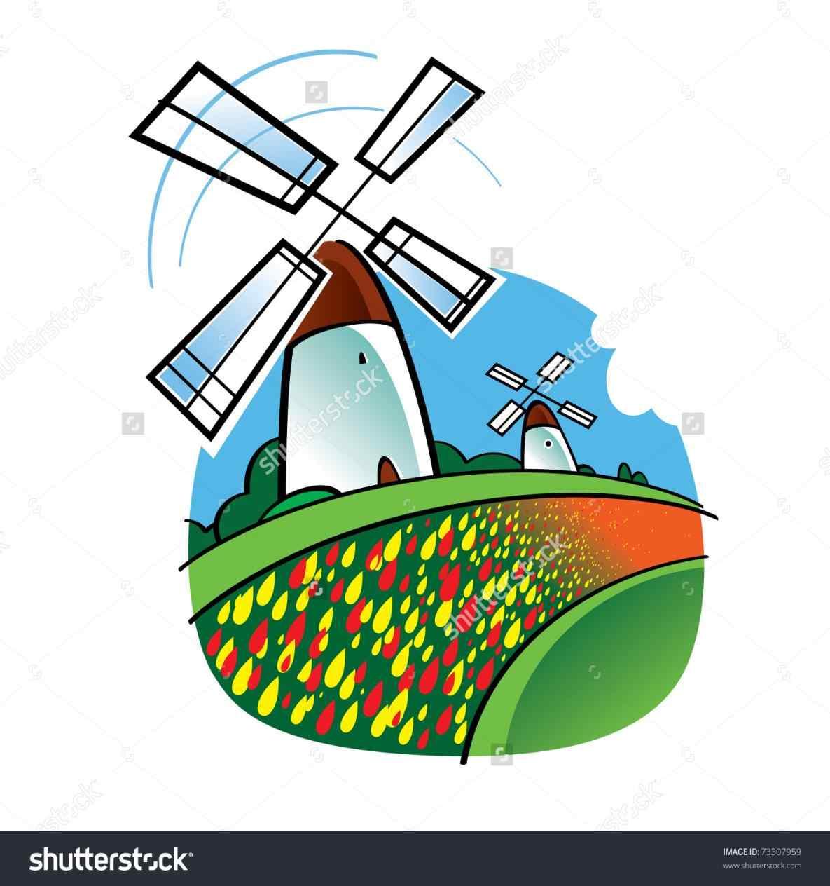 1185x1264 Free Download Clip Art On Minigolf Windmill Gouache Illustration