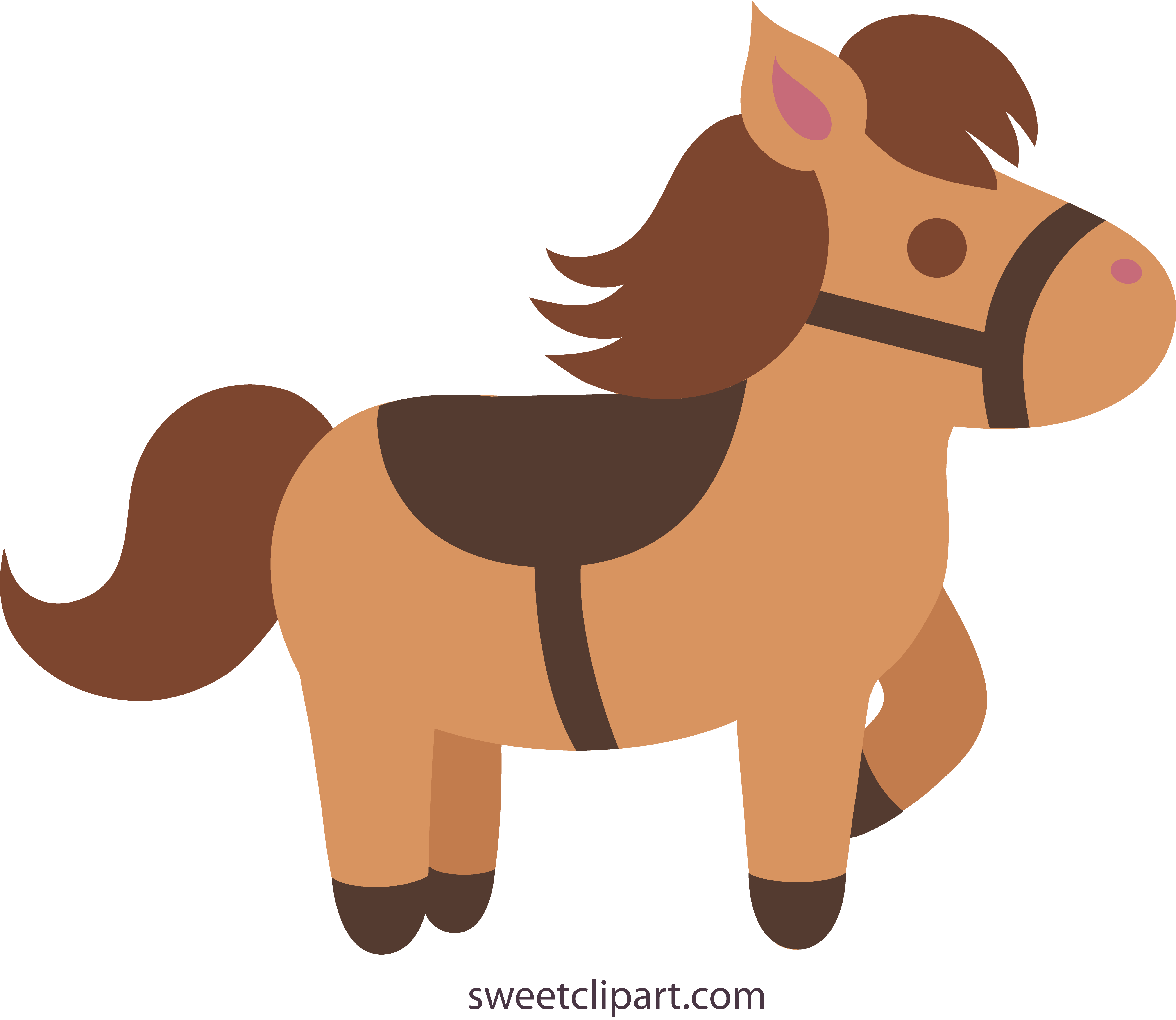 5223x4532 Cute Brown Pony With Saddle