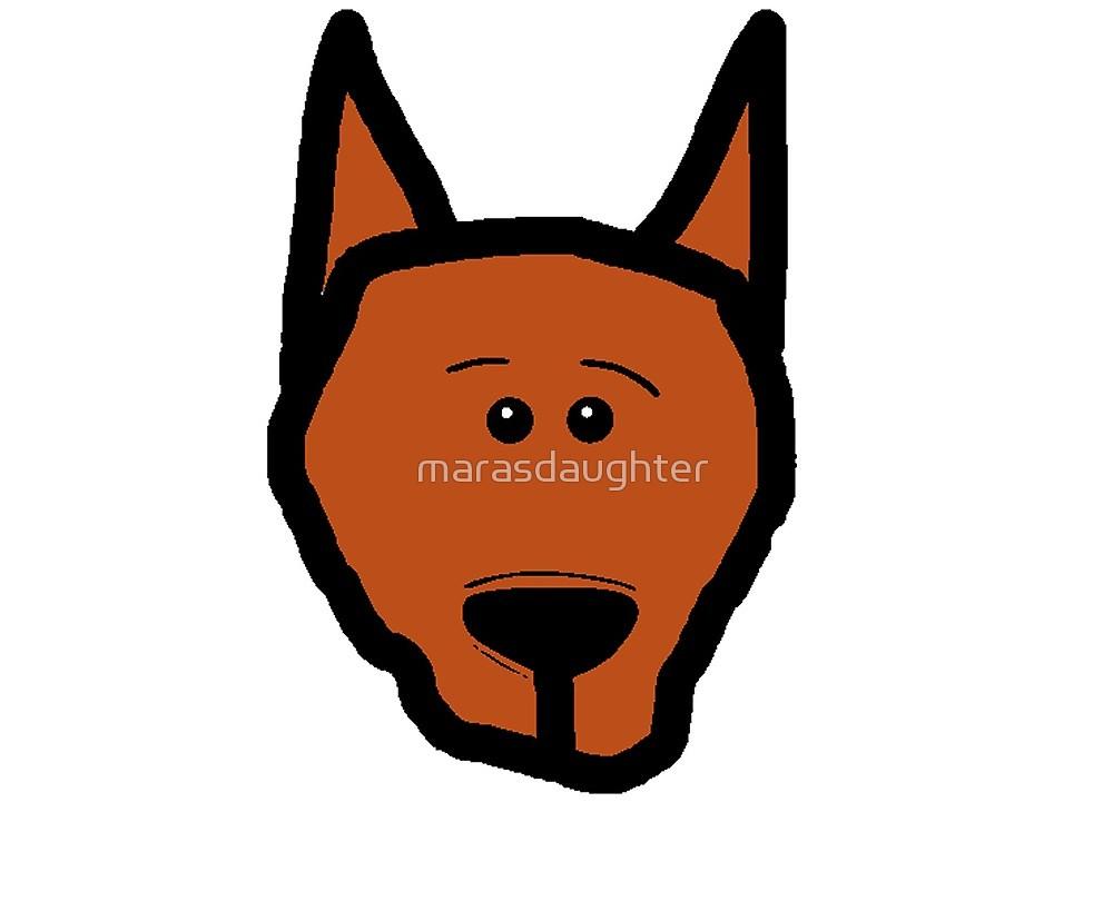 1000x828 Miniature Pinscher Cartoon Head By Marasdaughter Redbubble