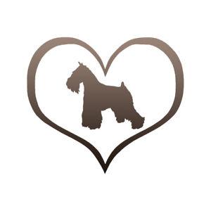 300x300 Heart Miniature Schnauzer Dog Decal Sticker Choose Pattern + Size